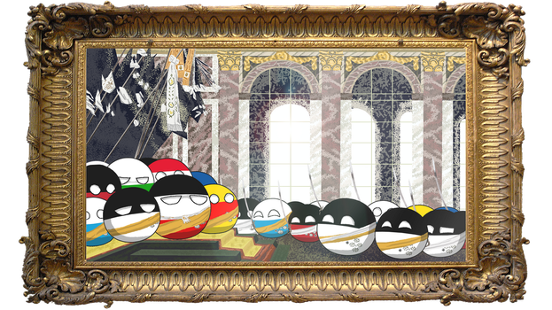 Proclamation of the German Empire as countryballs by Arminius1871