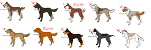 ::Ginga point adoptables:: by GingaGirl86