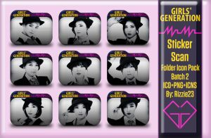 SNSD Mr. Mr. Sticker Scan Folder Icon Pack 2 by Rizzie23