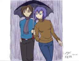 Date in the Rain  Colored by aniki91344