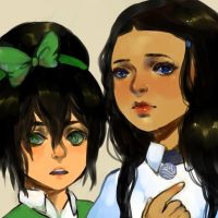 Katara and Toph by sock-eating-ninjas