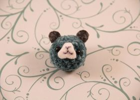 Amigurumi Blue Guinea Pig Magnet by AmiTownCreatures