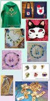 LOT of VARIOUS CRAFT CREATIONS by Kadajo
