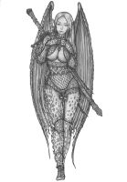 [COMISSION] Succubus Warrior by s0ulafein