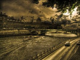 Somewhere on the Seine V by Ditze