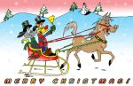 Bill and Buster Christmas Card 2012: Final by MatthewHunter