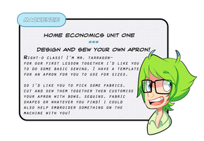 Home Ec: Apron Assignment by Lockmon