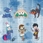 Sun and Moon Starters by Pokyeater