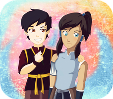 The legend of Korra  Mario and Korra by SonGohanZ