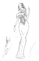 Fashion Sketch Wedding Gown by SankofaRida