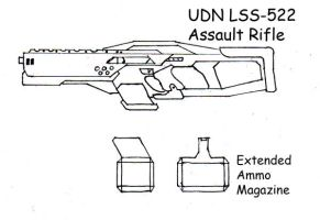 UDN LSS 522 Assualt rifle by ShadowMachina