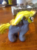 Derpy filly sculpted side view by Dansenhedgehog