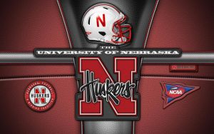 Huskers patch wallpaper (red) by vectorgeek