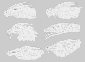 Profile busts by DarkDragon1010