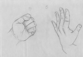 Hand Gesture Drawings: Part Two by xTrickx