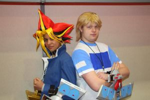 Yami Yugi and Joey Wheeler by Syl-Chan08