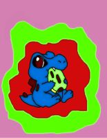 Totodile num num by ResidentEvilhunters
