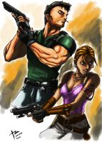 Sheva and Chris by stryfers