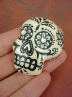 Black and White Sugar Skull by monsterkookies