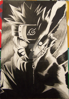 Naruto Two-Face B and W by Kiwi-Fox3