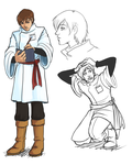 Phantasy Star IV Fangame - Hahn sketch and concept by ultema