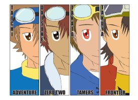 Digimon Anniversary 2010 by osundu