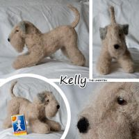 Needle felted wheaten by Cemina