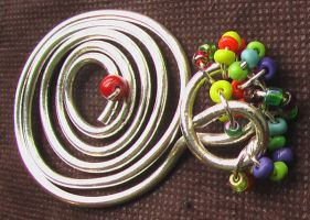 Spiral-Shaped Silver-plated Pendant by Barah-Art