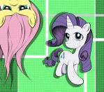 Team 1: Rarity and Fluttershy by DMatias19