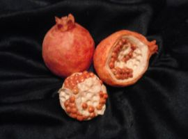 Ceramic Pomegranates by pink-porcupine