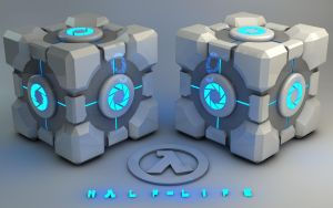 Glowing blue Weighted Storage Cube by Dracu-Teufel666