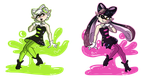 Squid Sisters by Crescent-Mond