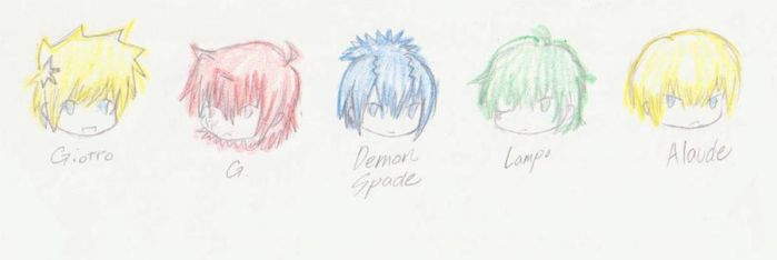 5 out pf 7 of 1st Gen Vongola by 13th-Musician