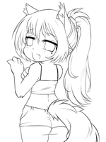 Nyeh- Lineart by BrandiMuffin