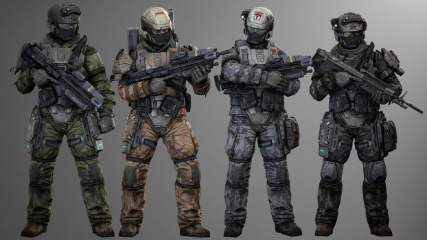 UNSC Camo Men by SuperNinjaNub