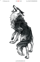 Fenrir tattoo Commission by yuumei
