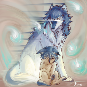 Ame's Guardian (Wolf Children) by RaiDesp-VS