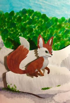 RiME fox paint-along by macyCAN