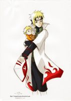 Yondaime and Son by origamicranes