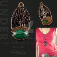 Under That Willow Tree Pendant Necklace by popnicute