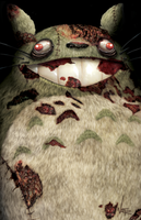Totoro Zombie by WhiteFer