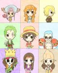 Straw Hat Chibis by TimTam13
