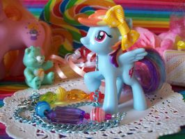 Rainbow Dash Necklace Close Up by lessthan3chrissy