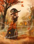 Autumn Witch by ADKKitty