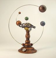 Orrery Spiral Star System 2 by buildersstudio
