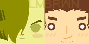 LM and BRWN - Square Face Icon by skcolb