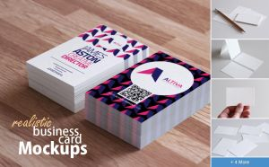 Realistic Business Card Mockups by h3design