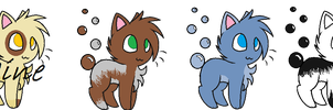 Bubble-Tail Cat Adopts! {OPEN} {NEW SPECIES} by SNlCKERS