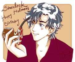 Happy Birthday Sherlock by edbrawley