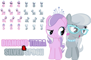 MLP RPG Sprites (Diamond Tiara and Silver Spoon) by GameCommentaries